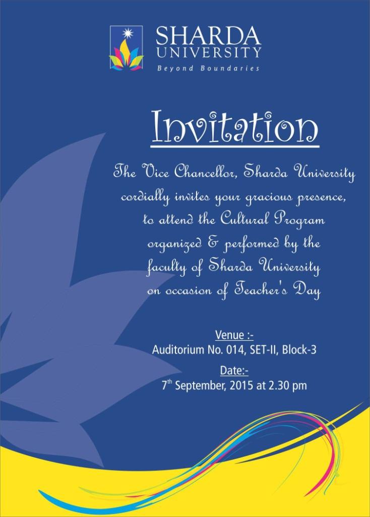 How To Write Invitation Letter For Teachers Day Celebration
