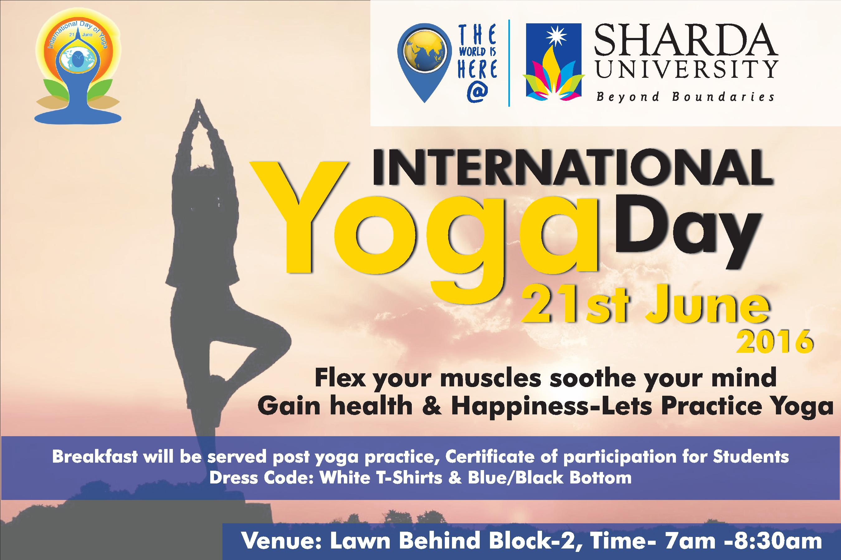 International Yoga Day A3 Poster