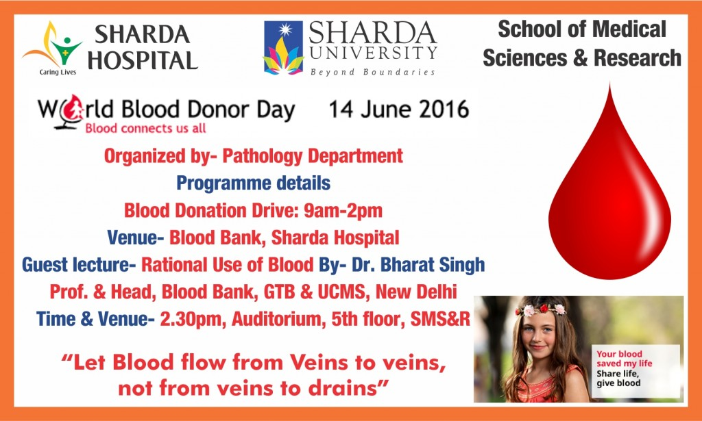World Blood Donor Day 14 June 2016