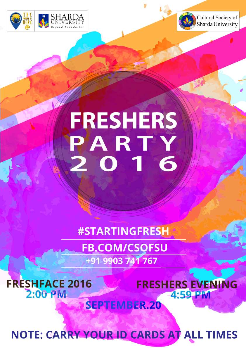 Freshers party invitation cards leoncapers freshers party invitation cards stopboris Gallery