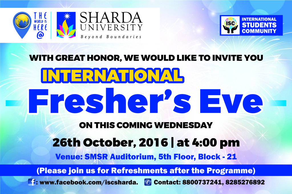 International Freshers Poster