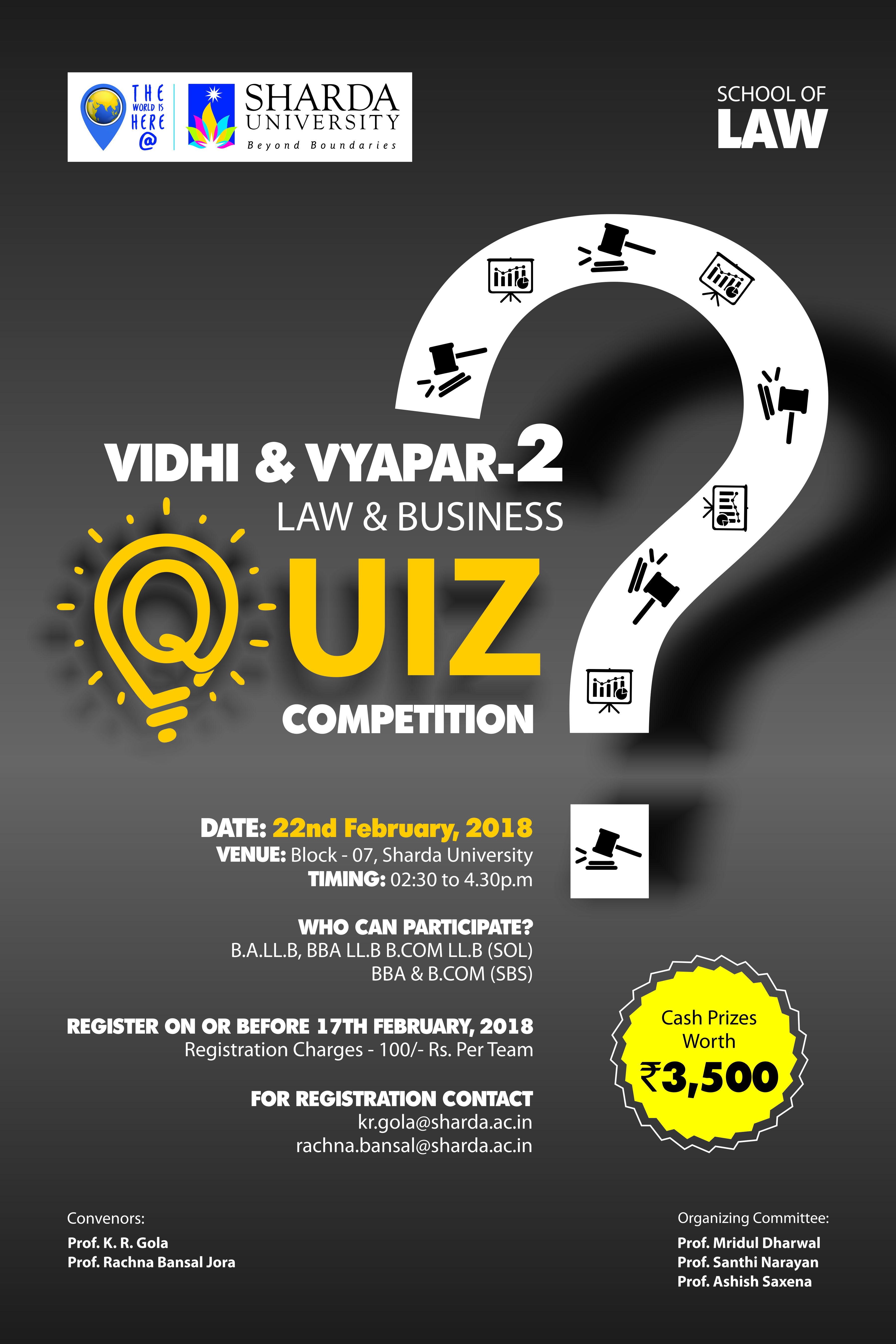 VIDHI & VYAPAR 2- Law and Business Quiz Competition by SOL