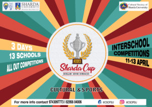 Department of Students 'Welfare, Sharda University is organizing Dance, Singing, Drawing, Speech & Poetry competition | 74th Independence Day | 4th- 7th August 2020