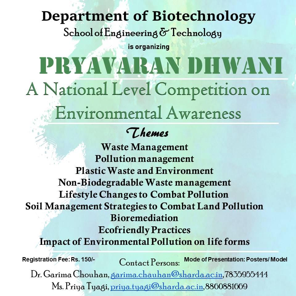 'Paryavaran Dhwani'- A National Competition on Environmental Awareness @ Ground Floor, Block-2 | Greater Noida | Uttar Pradesh | India
