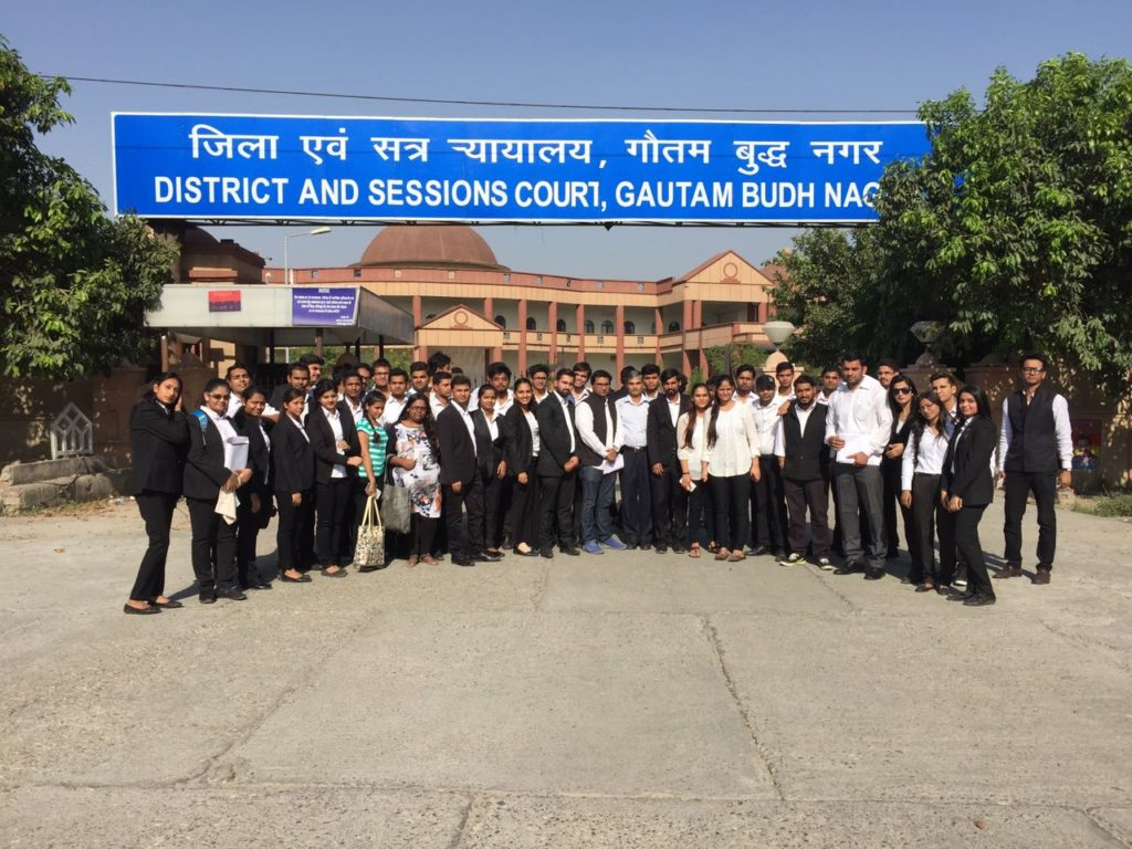 School of Law, Sharda University, Visit to District & Sessions Court, Gautam Budh Nagar For Community Connect Programme | 30th October 2018 @ District & Sessions Court, Surajpur, Gautam Budh Nagar, Greater Noida