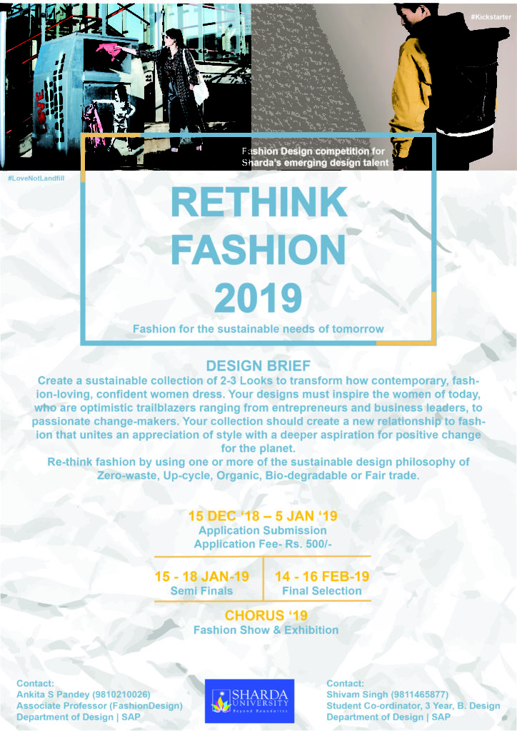 Rethink Fashion 2019 Design Competition Sharda University Event Calander