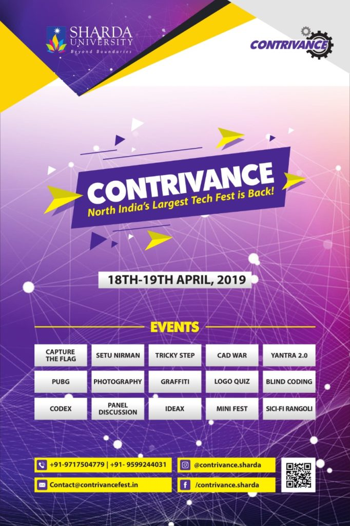CONTRIVANCE 2019 @ Sharda University