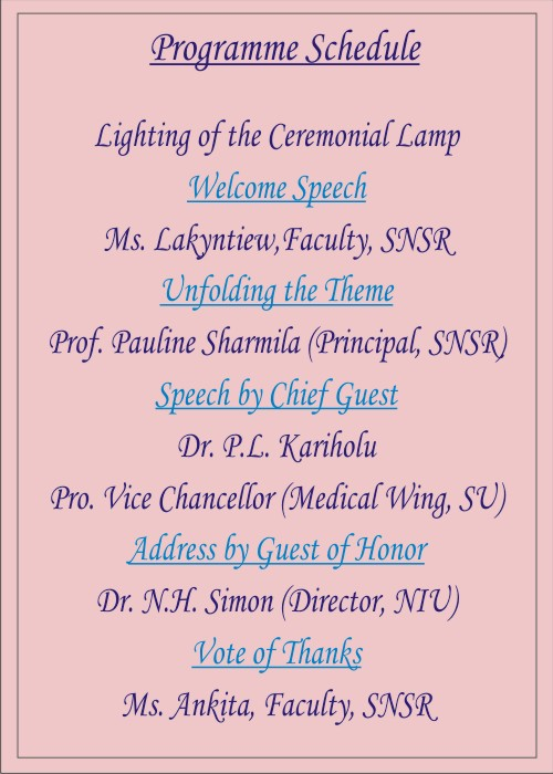 """School of Nursing Sciences & Research (SNSR), is organizing 5 days Workshop on """"Patient Care Excellence"""" on 22nd Nov 23rd Nov, 30th Nov 2019, 7th Dec and 14th December 2019. @ Audi 014, Sharda University"""