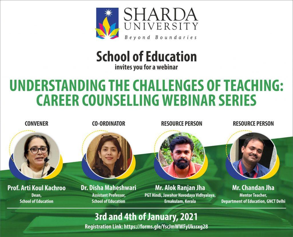 SOE-Understanding Challenges of Teaching Profession: Career Counselling Webinar @ School of Education