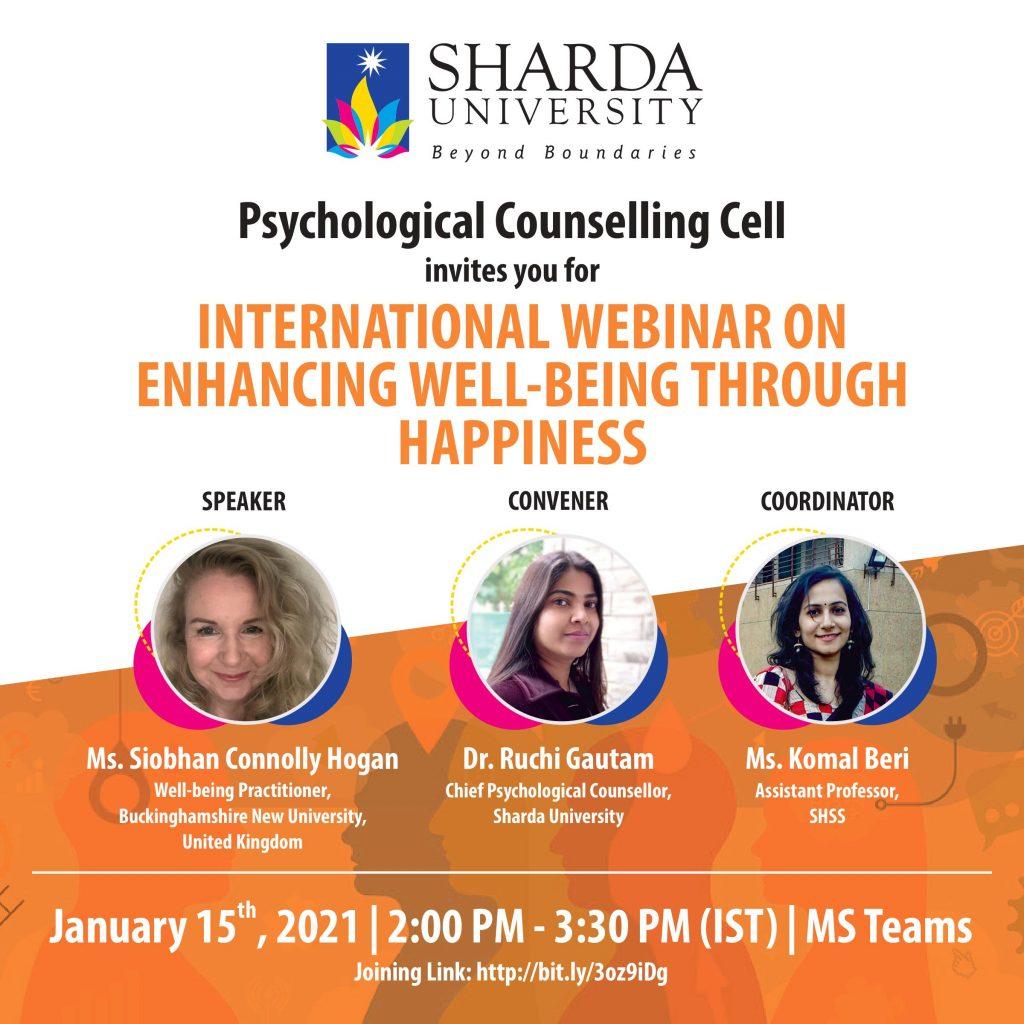 International Webinar on 'Enhancing Well-Being through Happiness'