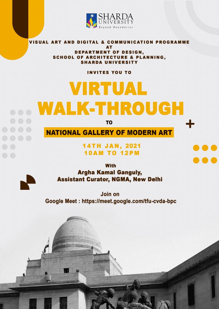 Virtual Walk-Through to National Gallery of Modern Art @ Google Meet