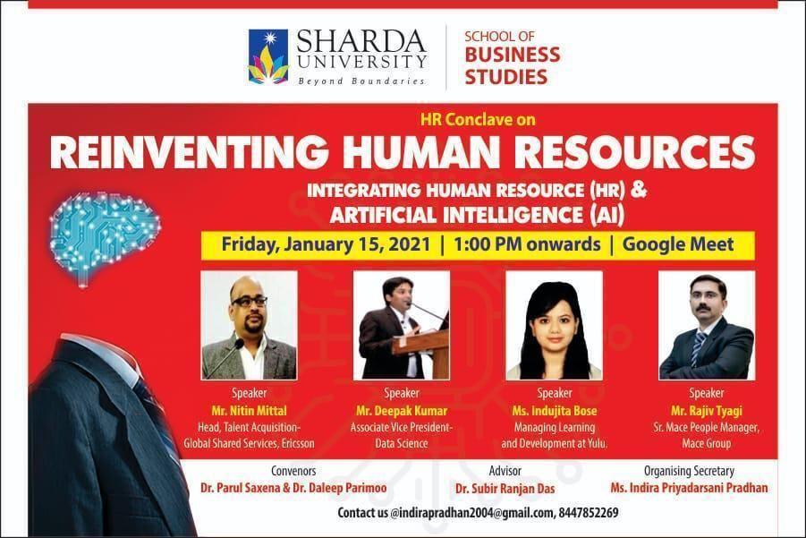 "HR CONCLAVE ""Reinventing Human Resources"": Integrating Human Resources (HR) & Artificial Intelligence (AI) @ Google Meet"
