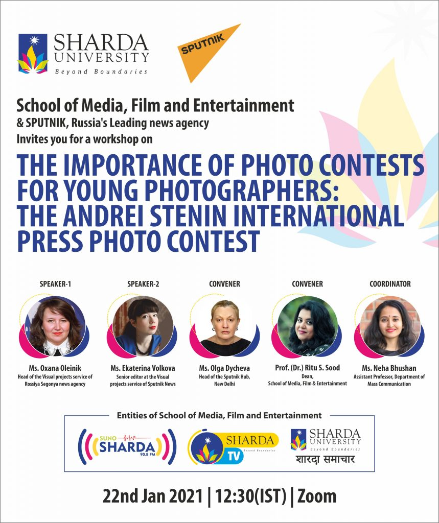 SputnikPro workshop for Sharda University on the topic: 'The Importance of Photo Contests for Young Photographers: the Andrei Stenin International Press Photo Contest'