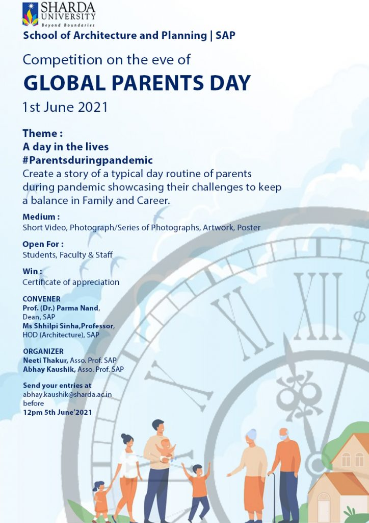 """competition on """"A day in the lives #Parents during pandemic""""  on 5th June' 2021 (Saturday) @ Online"""