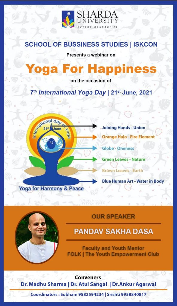 """""""YOGA FOR HAPPINESS"""" @ ONLINE"""