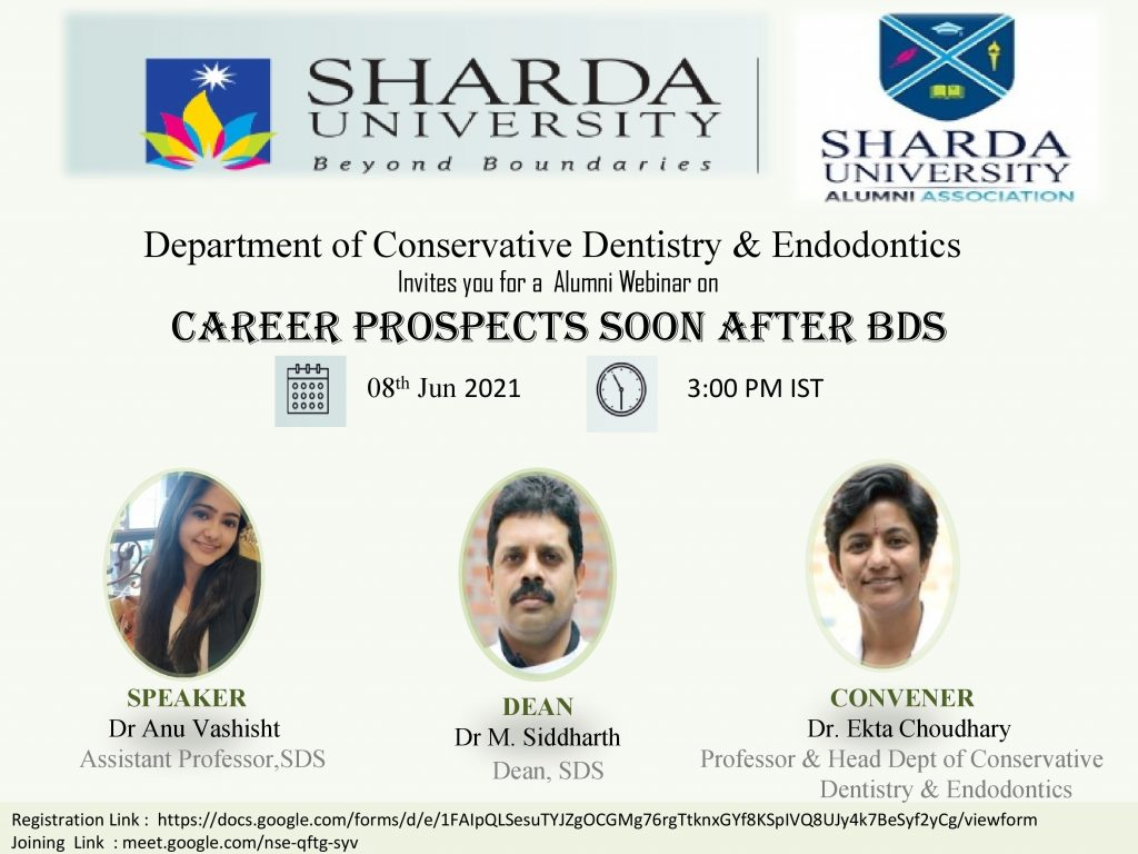 Career Prospects soon after BDS @ School of dental sciences